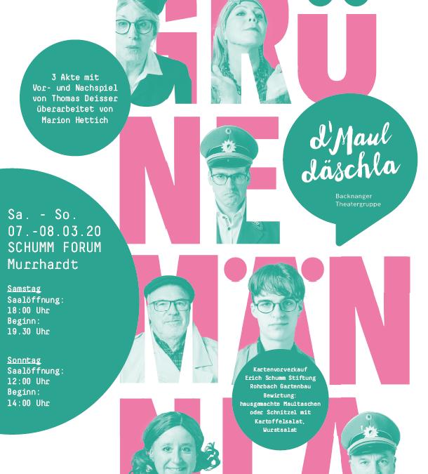 d'Mauldäschla im Schumm Forum am 07. und 08. März 2020