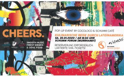 CHEERS – eine kulinarische Reise durch Lateinamerika am 25.01.2020 im Schumm Forum