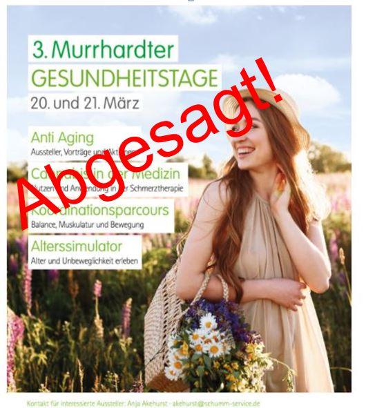 3. Murrhardter Gesundheitstage am 20. und 21. März